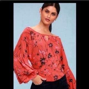 Free People last time bell sleeve draped top XS